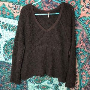 Free People V-Neck Pullover Sweater